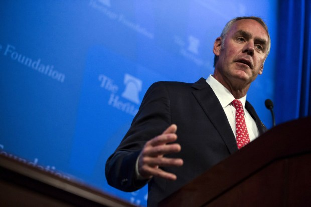 The National Park Service Advisory Board members who recently quit said they tried unsuccessfully to engage with Interior Secretary Ryan Zinke, seen here at an event in Washington, D.C., last September.
