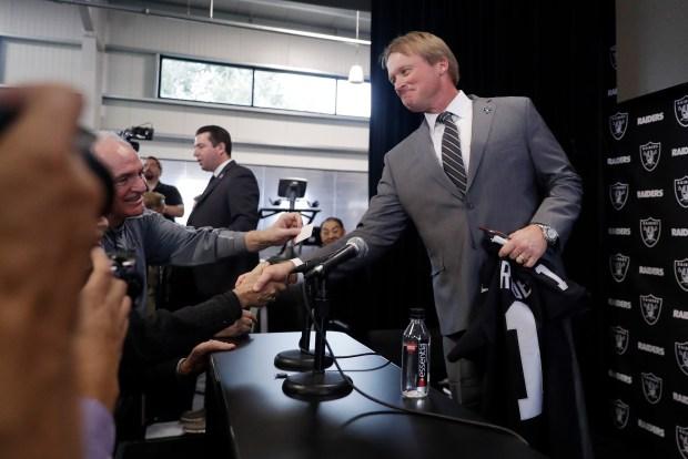 Oakland Raiders head coach Jon Gruden ...