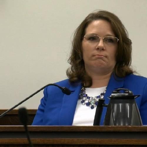 Wendy Habert testifies during former El Paso County Sheriff Terry Maketa's retrial.