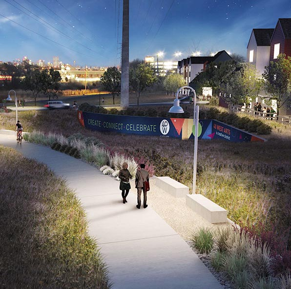 Artist's conception of West Line Village.
