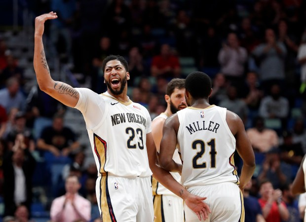 New Orleans Pelicans forward Anthony Davis ...