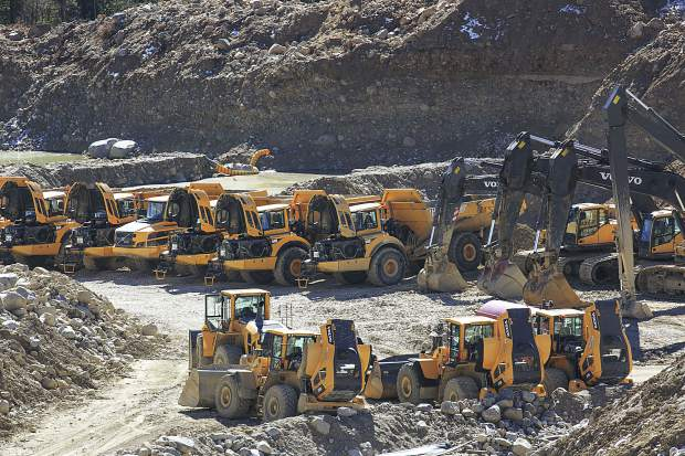 Heavy equipment at the site of a mining operation for the reality-TV show Gold Rush near Fairplay. The controversial show is leaving the area, but residents are still pushing for greater mining oversight.