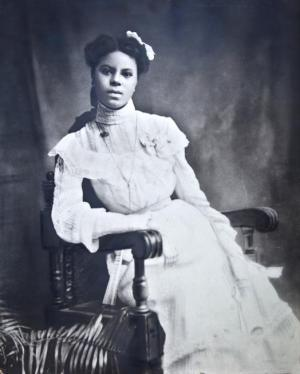 Lucile Berkeley Buchanan, the first African American graduate of the University of Colorado. She was barred from walking at graduation, but 100 years later, the university is going to formally recognize her at commencement this year. The photo was taken at her high school graduation.