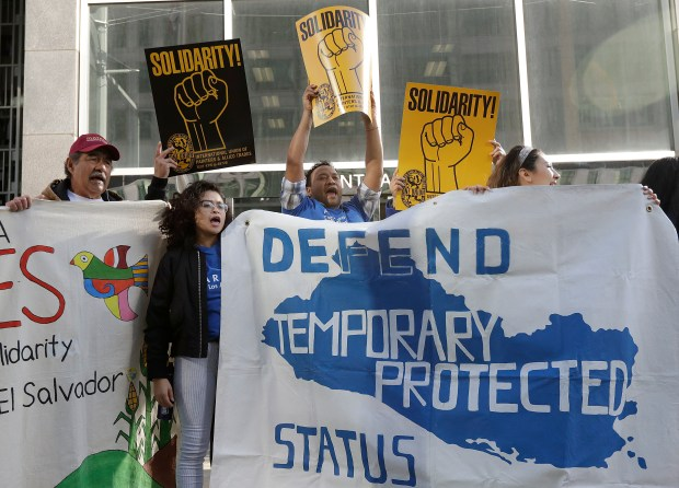 Supporters of temporary protected status immigrants ...