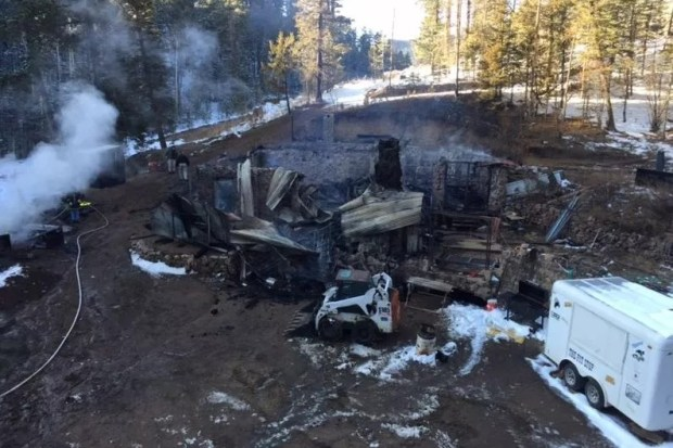 The gift shop at Bishop Castle, a fabled attraction west of Pueblo, burned to the ground March 28, 2018. Owner Jim Bishop said revenue from the store, stocked with Renaissance weaponry and trinkets, paid his rent.