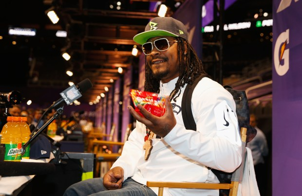 Marshawn Lynch #24 of the Seattle ...