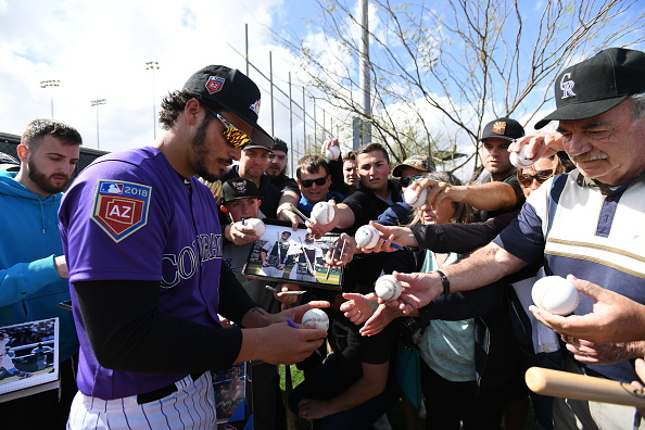 Colorado Rockies third baseman Nolan Arenado ...