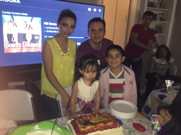 Roberto Flores-Prieto and family