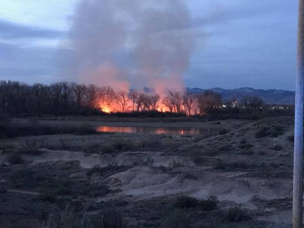 The Skipper Island Fire started burning Wednesday night.