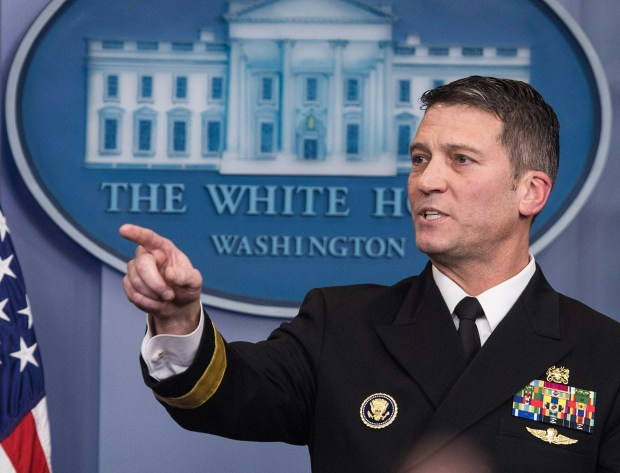 White House physician Ronny L. Jackson speaks at the White House on Jan. 16. President Donald Trump announced last week that Jackson is replacing David Shulkin as secretary of Veterans Affairs.