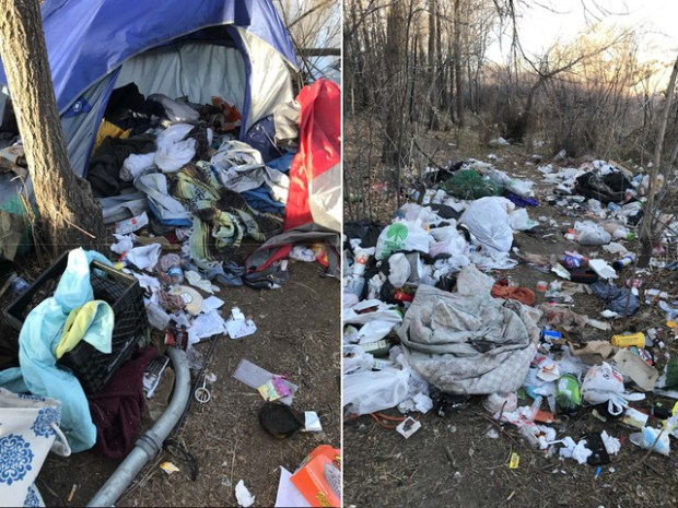 A coalition of city governments and agencies in January cleared a homeless encampment from a quarter-mile stretch of the South Platte River in Englewood, hauling away 25 truckloads of trash.
