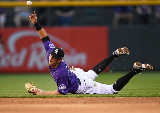Colorado Rockies second baseman DJ LeMahieu ...