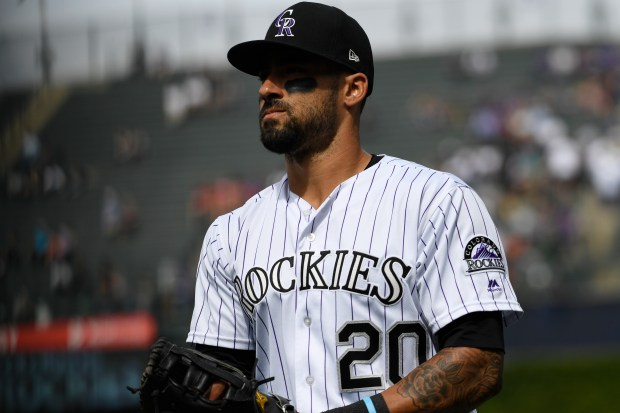 Colorado Rockies Ian Desmond #20 before ...