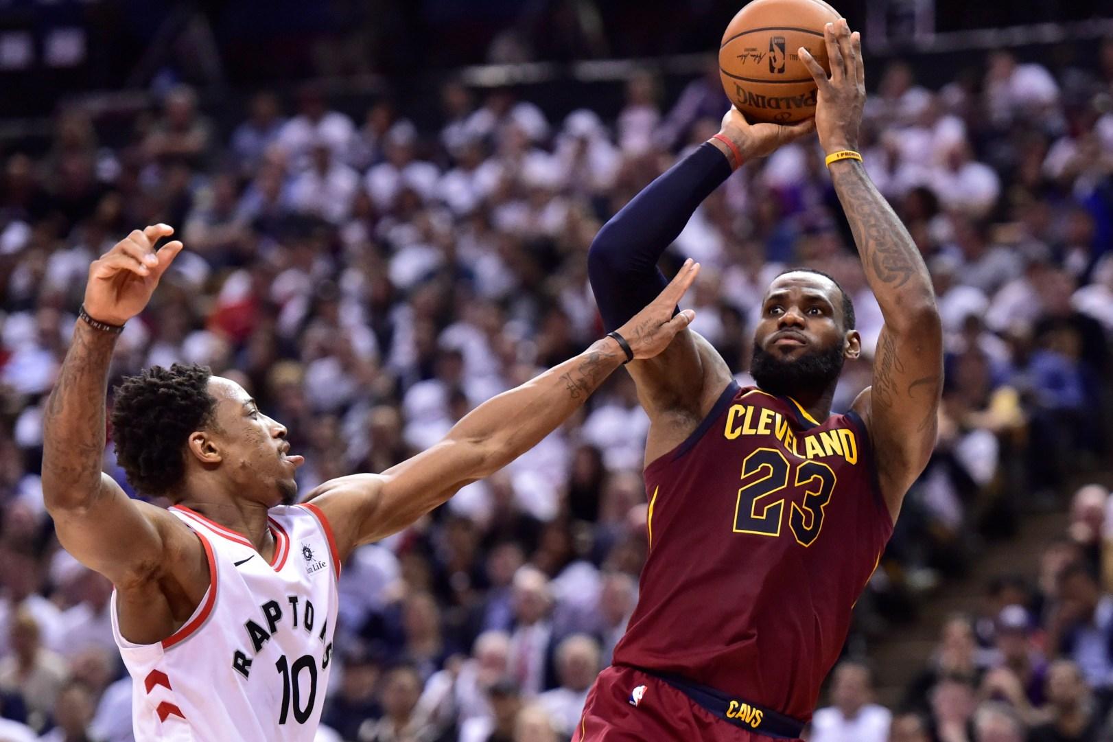 0fd888c34d5c LeBron James scores 43 as Cavs beat Raptors in Game 2 – The Denver ...