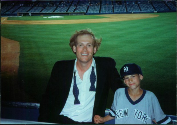 John Ottavino and Adam Ottavino at Yankee Stadium in 1995.