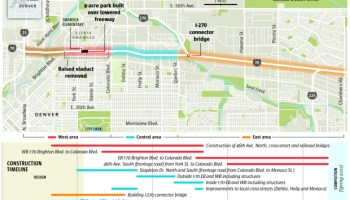 First weekend closure of I-70 through Denver set as project