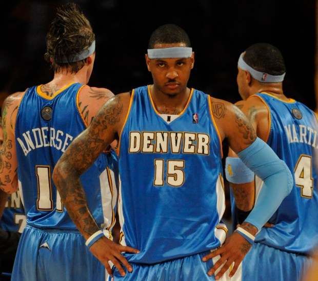 Denver Nuggets forward Carmelo Anthony #15 ...