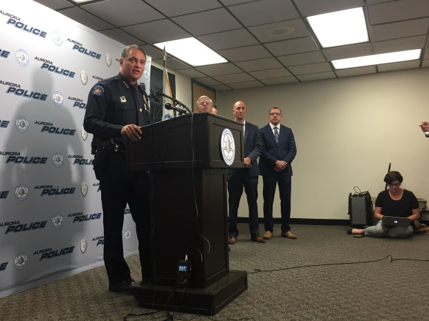 Aurora Police Chief Nick Metz addressed the media Thursday afternoon about the shooting death of 73-year-old Gary Black by an officer.