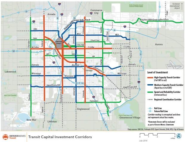 Denver Colorado Subway Map.Denveright Plans Chart Out New Direction For Expanding Denver S
