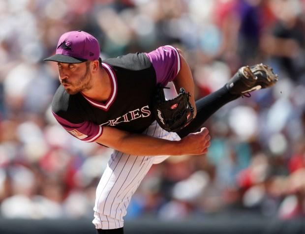 Colorado Rockies relief pitcher Chad Bettis ...