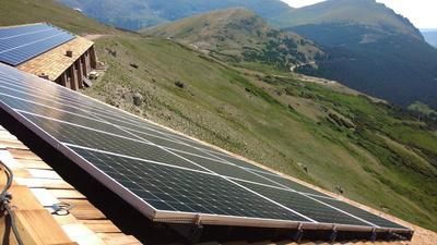 The company that runs the Trail Ridge Store in Rocky Mountain National Park, Xanterra Travel Collection, installed a solar array on the building that sits at 11,789 feet to provide renewable power for the store. Built to withstand extreme weather conditions, the solar panels were placed on facilities in four national parks.