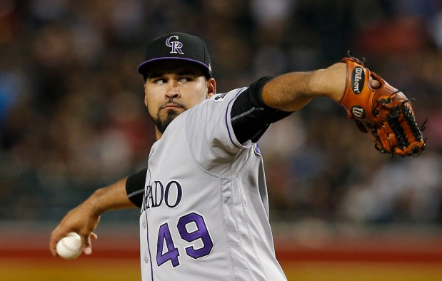 Colorado Rockies starting pitcher Antonio Senzatela ...