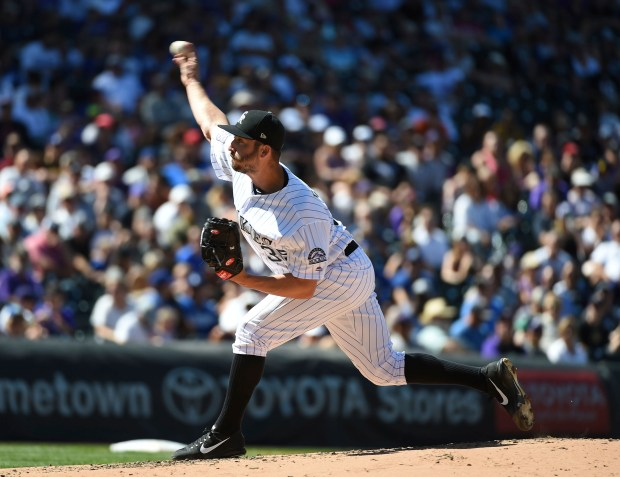Colorado Rockies relief pitcher Chad Bettis ...