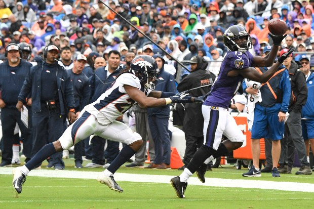 Baltimore Ravens wide receiver John Brown ...