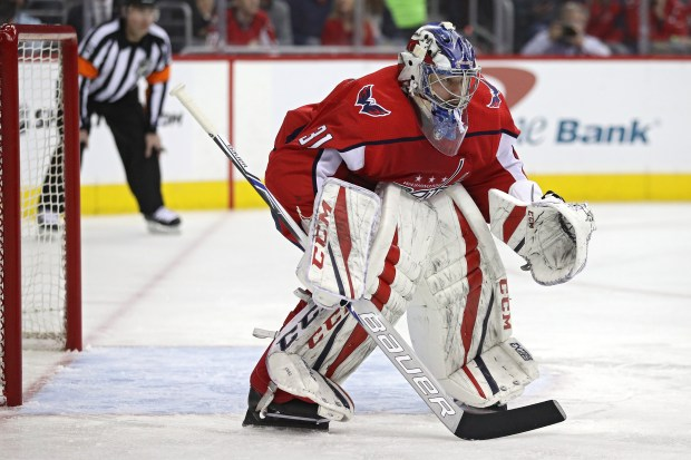 Goalie Philipp Grubauer #31 of the ...