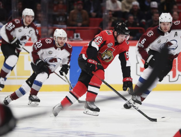 Matt Duchene #95 of Ottawa Senators ...