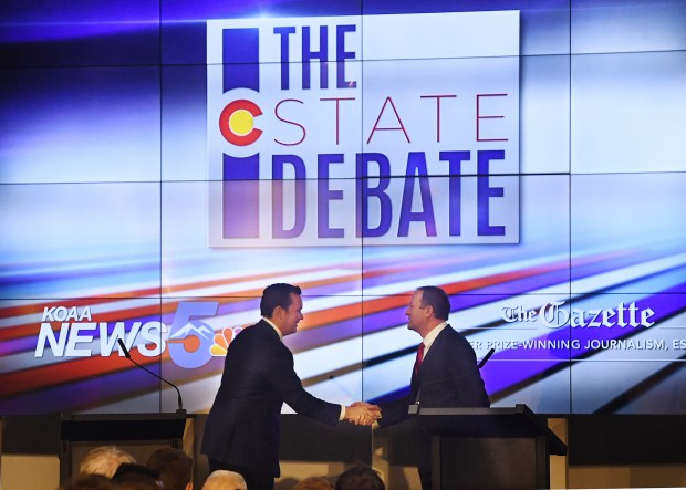Colorado gubernatorial candidates, Republican Walker Stapleton, ...