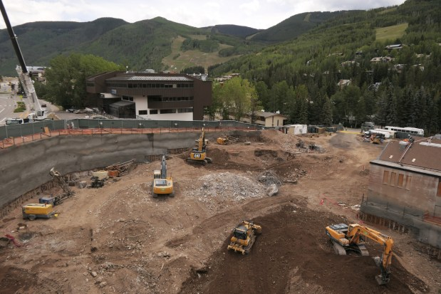 Construction at the site of Vail ...