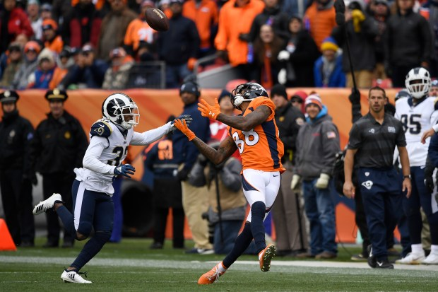 Demaryius Thomas (88) of the Denver ...