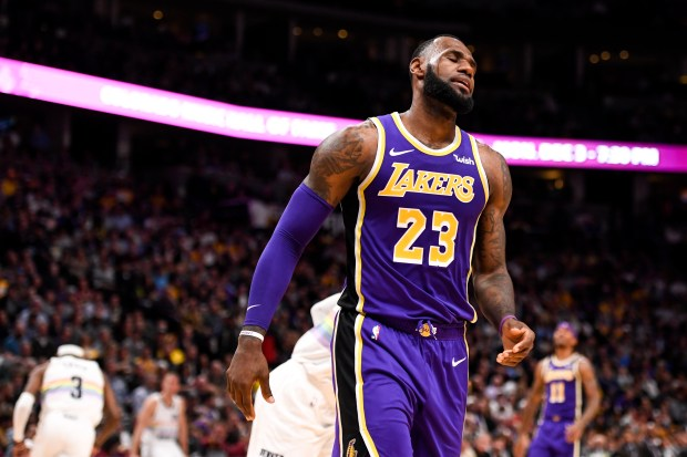 LeBron James (23) of the Los ...