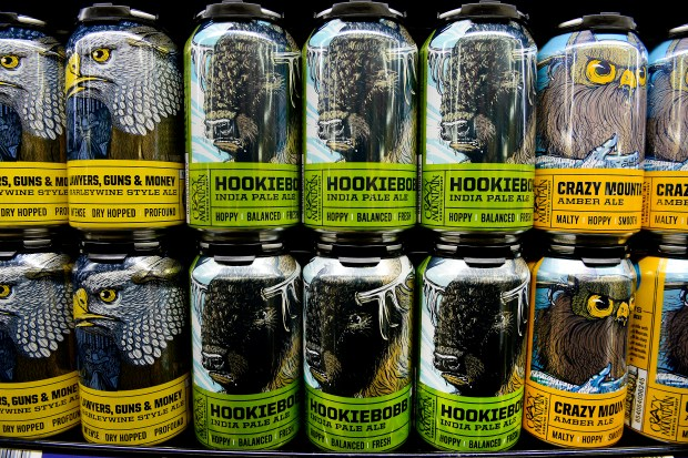 Cans of beer from Crazy Mountain ...