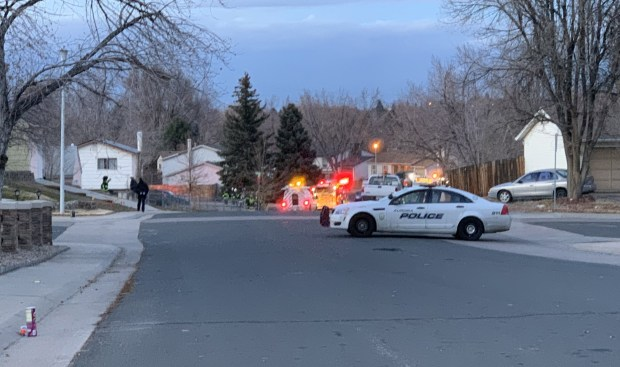 Utility crews and emergency responders examine a gas leak in Aurora on Dec. 2, 2018, which forced the evacuation of 13 homes for more than five hours.