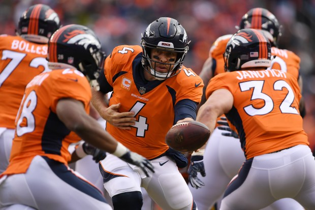 Case Keenum (4) of the Denver ...