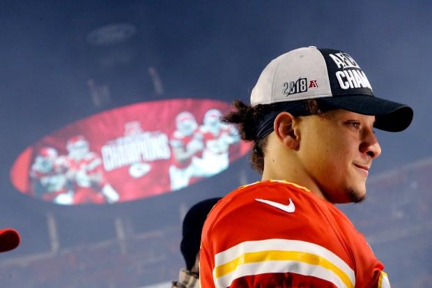 Kansas City Chiefs quarterback Patrick Mahomes ...