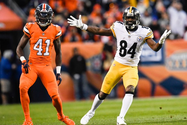 Antonio Brown (84) of the Pittsburgh ...