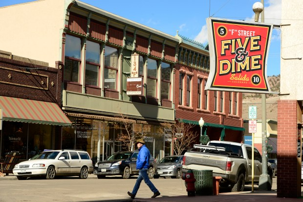 Salida's historic downtown area sits at ...