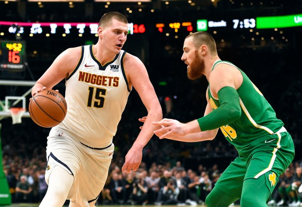 Nikola Jokic #15 of the Denver ...