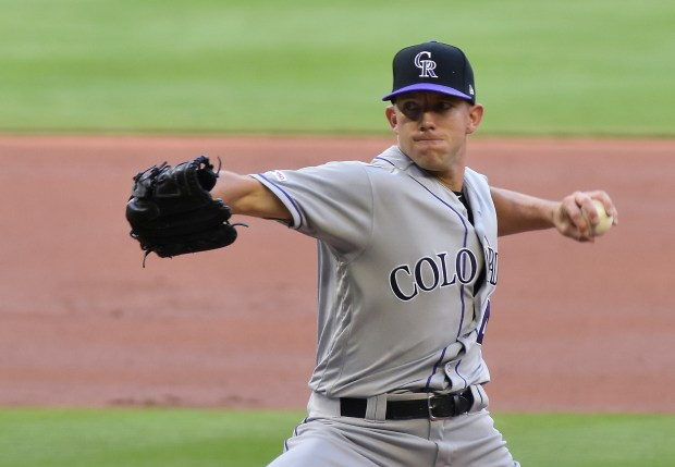 Colorado Rockies starter Tyler Anderson pitches ...