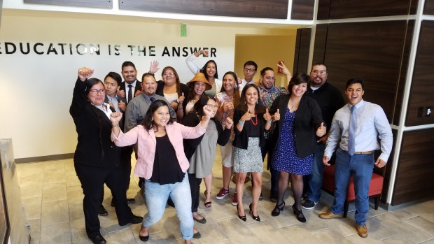 Employees with American Indian College Fund are pictured together.
