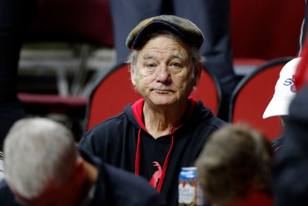Actor Bill Murray sits in the ...