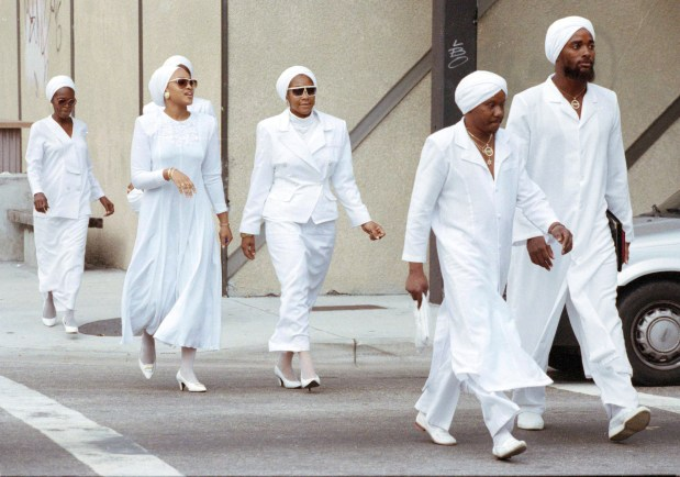 Members of the black religious sect ...