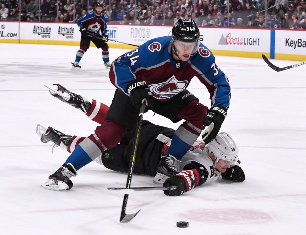 Colorado Avalanche center Carl Soderberg (34) ...