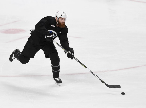 Colorado Avalanche defenseman Ian Cole (28) ...