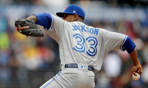 Toronto Blue Jays pitcher Edwin Jackson ...