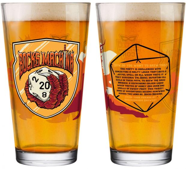 First look at Breckenridge's 2019 Denver Pop Culture Con beer glassware