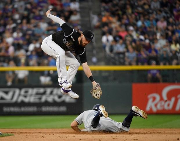 Colorado Rockies second baseman Brendan Rodgers ...